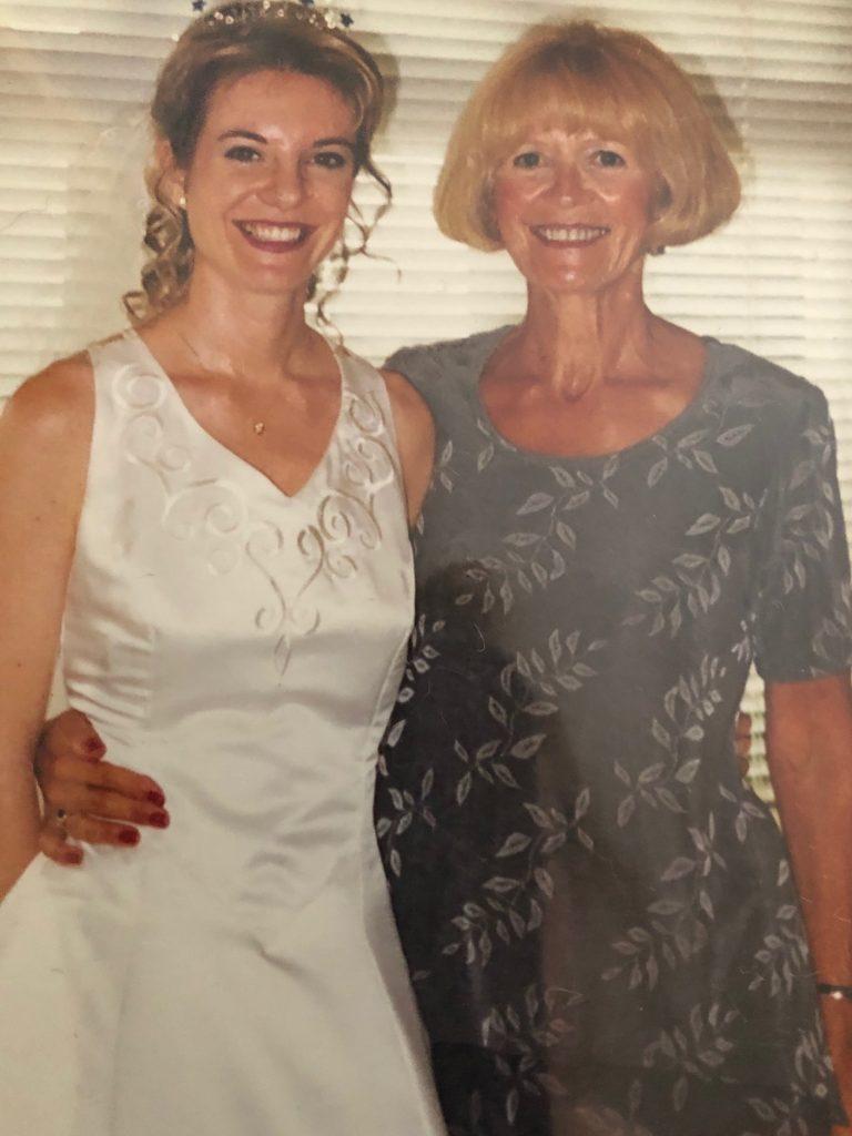 Katie and her Mum at Katie's wedding